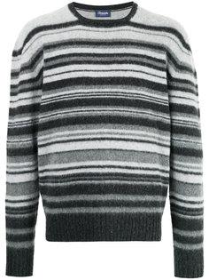 полосатый свитер с круглым вырезом Drumohr
