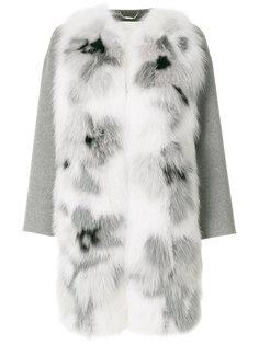 пальто с аппликацией Fendi