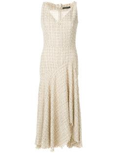 асимметричное платье с люрексом Alexander McQueen
