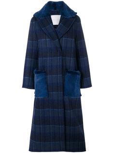 двубортное пальто в клетку  Giada Benincasa