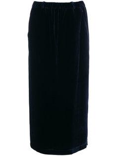 бархатная юбка-миди Aspesi
