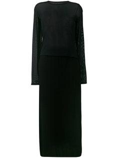 платье с сетчатыми панелями  Mm6 Maison Margiela