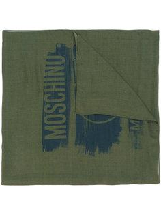 тканый шарф с логотипом  Moschino
