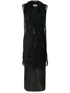 многослойное платье Mm6 Maison Margiela