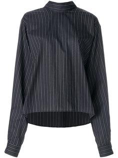 расклешенная полосатая рубашка  Mm6 Maison Margiela