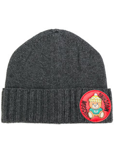 шапка-бини в рубчик Moschino