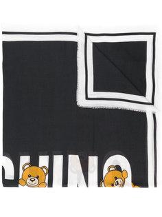 шарф с принтом логотипа и медведями Moschino
