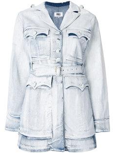 джинсовая куртка с поясом Mm6 Maison Margiela