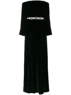 декорированное платье с открытыми плечами Wandering