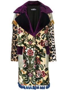 лоскутное пальто с кисточками Jeremy Scott