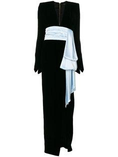 вечернее платье с контрастным пояосм Alexandre Vauthier