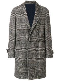 пальто в клетку на пуговицах Lardini