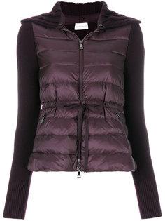 куртка-пуховик с трикотажными рукавами Moncler