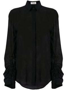 полупрозрачная приталенная блузка  Saint Laurent