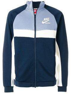 толстовка на молнии дизайна колор-блок Nike