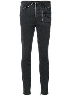 джинсы скинни с отделкой молниями Rta