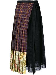 асимметричная юбка в клетку Antonio Marras