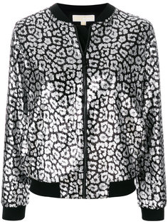 куртка-бомбер с леопардовым принтом  Michael Michael Kors