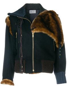 куртка с меховым воротником  Kolor