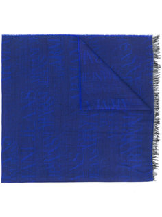 жаккардовый шарф с логотипом Armani Jeans