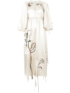 расклешенное платье с вышивкой  Sonia Rykiel