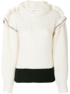 трикотажный свитер с оборками Sonia Rykiel