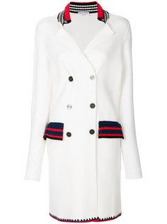 двубортное пальто строгого кроя Sonia Rykiel