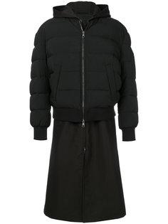 пуховое пальто с капюшоном Neil Barrett