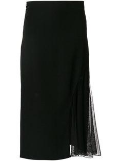 юбка с панелью со складками Lanvin