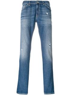 джинсы скинни с выцветшим эффектом Dondup