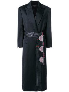 пальто строгого кроя с декорированным поясом Ter Et Bantine