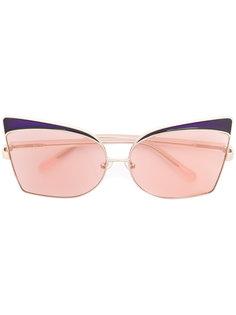 солнцезащитные очки в объемной оправе Linda Farrow Gallery