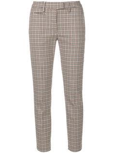укороченные приталенные брюки Dondup