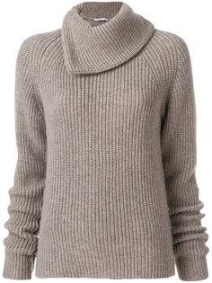 свитер с большим воротником  Agnona