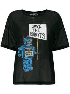 прозрачная футболка Save The Roots Jeremy Scott