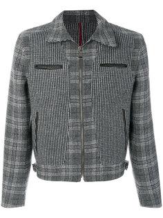 куртка с панелями в ломаную клетку Salvatore Ferragamo