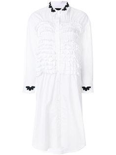 платье-рубашка с рюшами Simone Rocha