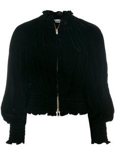 бархатный пиджак с оборкой  Stella McCartney