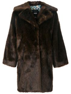 объемное пальто из искусственного меха Diesel