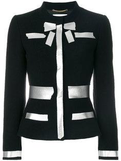пиджак с серебристым принтом Moschino