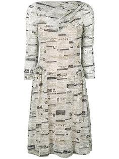 сетчатое расклешенное платье Newspaper Moschino