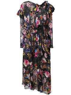 платье Aubrey с цветочным принтом Preen By Thornton Bregazzi