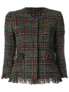 укороченный твидовый пиджак Tagliatore