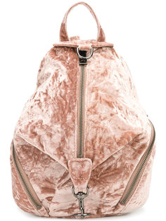 бархатный рюкзак на молнии Rebecca Minkoff