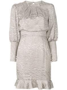 присборенное платье с цветочным принтом  Misha Collection