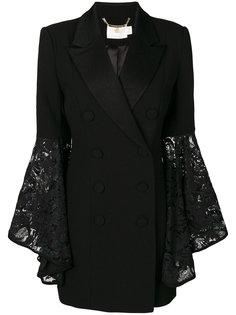 двубортное пальто с кружевными рукавами Misha Collection