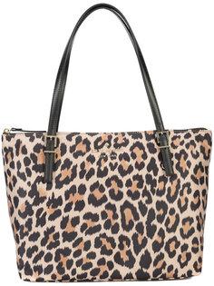 леопардовая сумка-тоут Kate Spade