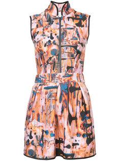 короткое платье с воротником-стойкой Patbo