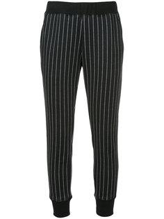 укороченные брюки в полоску Loveless