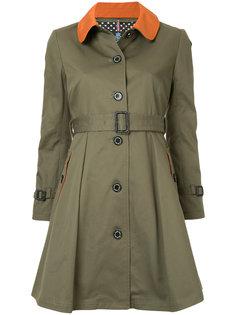 однобортное пальто с контрастным воротником Guild Prime